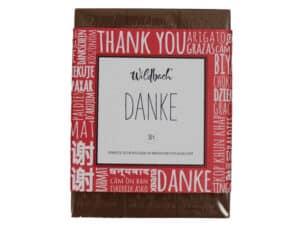 Geschenkschokolade Danke