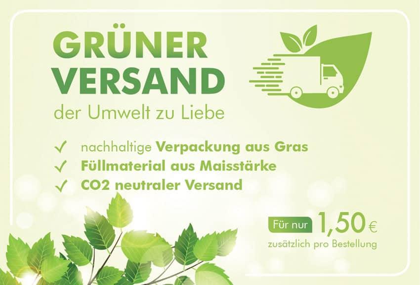 Grüner Versand - Banner